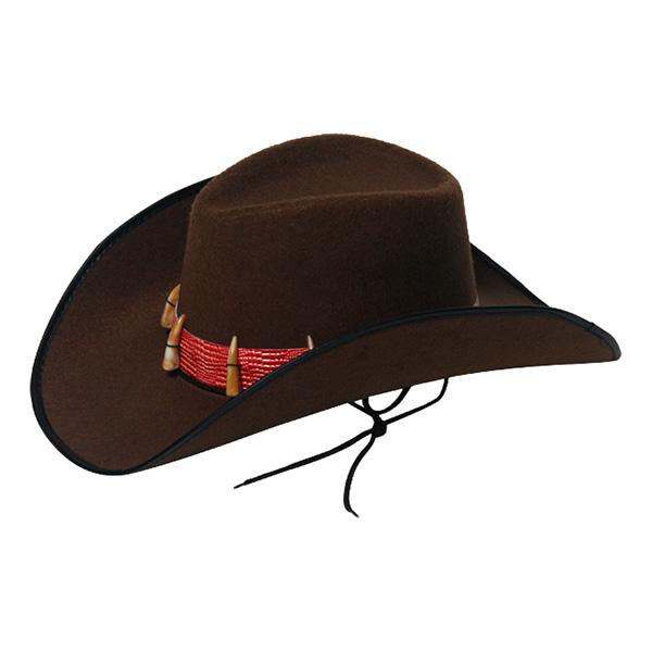 Cowboyhatt med Krokodiltänder