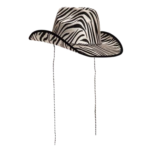Cowboyhatt med Zebramönster
