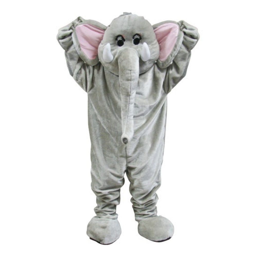 Elefantmaskot Deluxe Maskeraddräkt