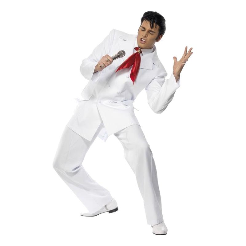 Elvis 1968 Vit Maskeraddräkt