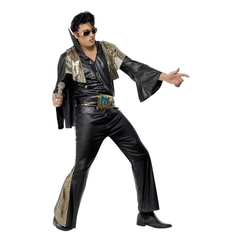 Elvis Svart Maskeraddräkt