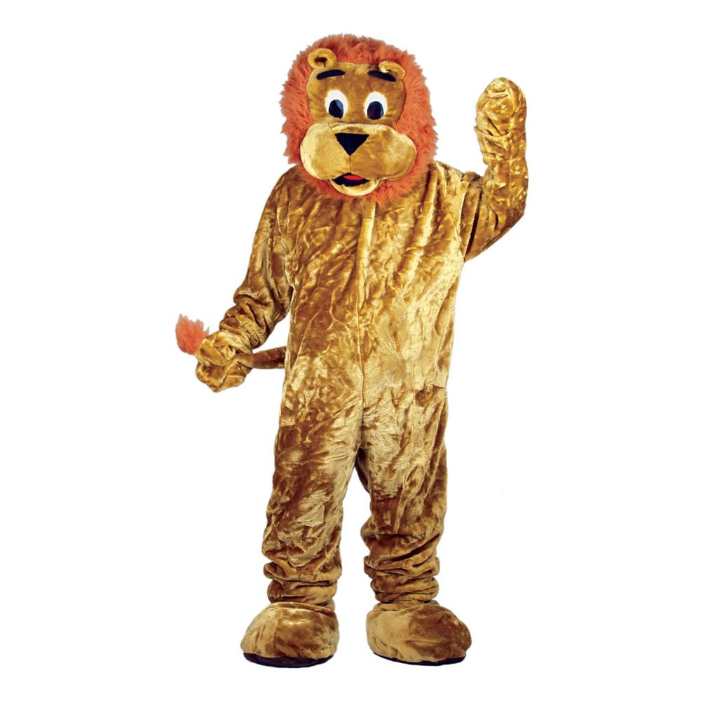 Lejonmaskot Deluxe Maskeraddräkt