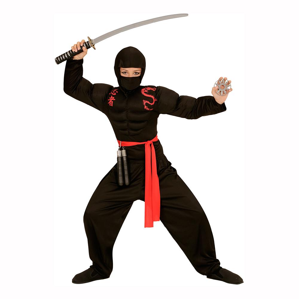Ninja med Muskler Barn Maskeraddräkt