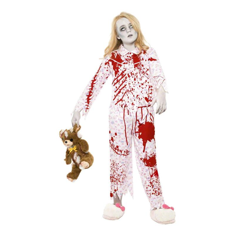 Zombieflicka i Pyjamas Barn Maskeraddräkt